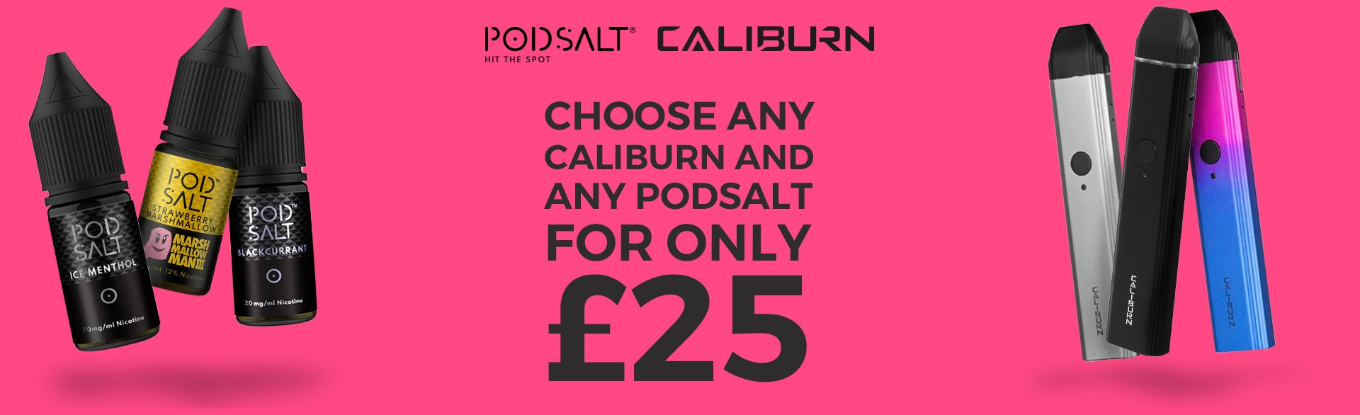 CaliBurn with any Pod Salt £25