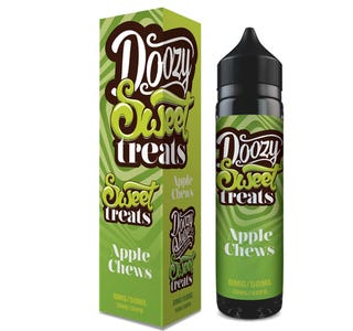 Doozy Sweet Treats Apple Chews 50ml Short Fill E-Liquid Box and Bottle