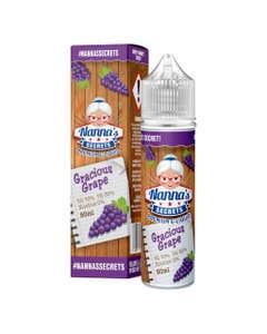 Nanna's Secrets Gracious Grape 50ml Shortfill E-Liquid Bottle and Box