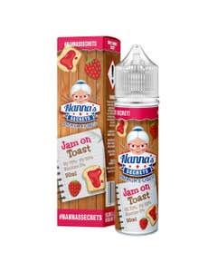 Nanna's Secrets Jam on Toast 50ml Shortfill E-Liquid Bottle and Box
