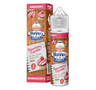 Nanna's Secrets Strawberry Cupcake 50ml Shortfill E-Liquid Bottle and Box