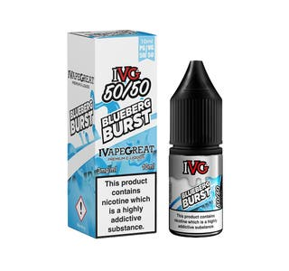 IVG Blueberg Burst 10ml 5050 Nicotine E-Liquid