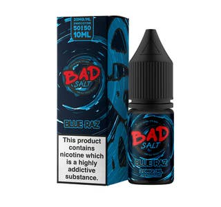 Bad Salt Blue Raz 10ml Nicotine Salt E-Liquid