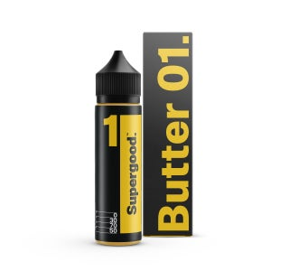 We are Supergood Butter 01. Shortfill E-Liquid Bottle and Box