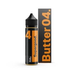 We are Supergood Butter 04. Shortfill E-Liquid Bottle and Box