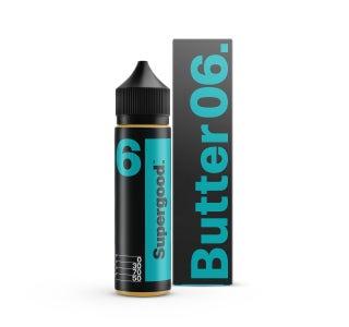 We are Supergood Butter 06. Shortfill E-Liquid Bottle and Box