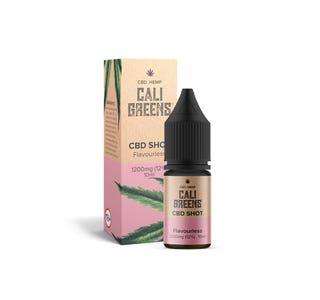 Cali Greens CBD 1200mg (Flavourless) Shot 10ml Bottle and Box
