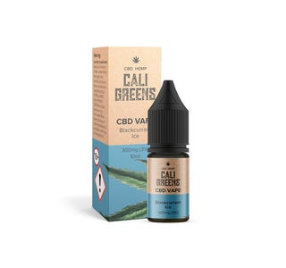 Cali Greens 300mg CBD Vape Blackcurrant Ice 10ml Bottle and Box