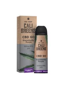Cali Greens CBD GO Granddaddy Purple Box and Device