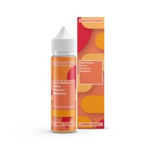 We are Supergood Peach Bellini Shortfill E-Liquid Bottle and Box