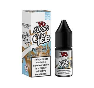 IVG Cola Ice 10ml 5050 Nicotine E-Liquid