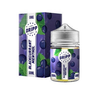 Dripp Blackcurrant Menthol 50ml Short Fill E-Liquid Box and Stubby Bottle