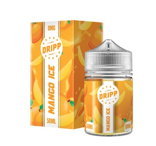 Dripp Mango Ice 50ml Short Fill E-Liquid Box and Stubby Bottle