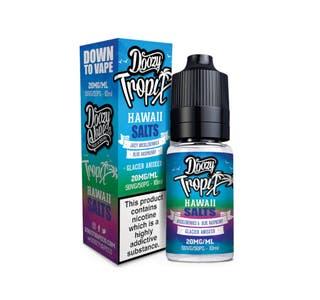Doozy Tropix Hawaii 10ml Nicotine Salt E-Liquid Bottle and Box