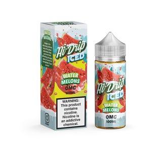 Hi Drip Iced Watermelon 100ml Short Fill E-Liquid Bottle and Box