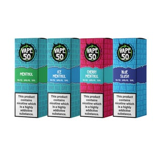 Vape:50 Ice & Menthol Bundle E Liquids