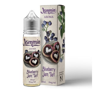 Jammin Blueberry Jam Tart 50ml  Short Fill E-Liquid Bottle and Box