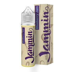 Jammin Blueberry Jam 50ml Short Fill E-Liquid Bottle and box