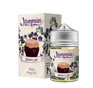 Jammin Blueberry Jam 50ml Short Fill E-Liquid Box and Stubby Bottle