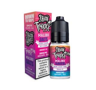 Doozy Tropix Malibu 10ml Nicotine Salt E-Liquid Bottle and Box
