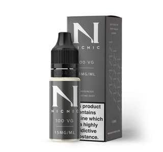 Nic Nic 10ml Nicotine Shot (EN) - 15mg/ml - 100% VG Bottle and Box