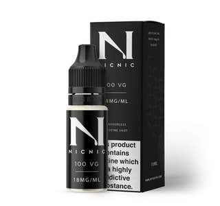 Nic Nic 10ml Nicotine Shot (EN) - 18mg/ml - 100% VG Bottle and Box