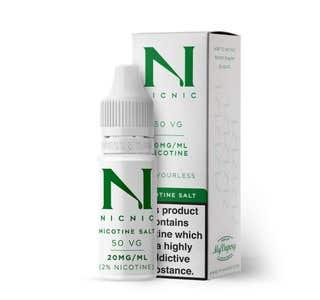 Nic Nic Salt Shot 10ml Nicotine Shot (EN) - 20mg/ml Bottle and Box