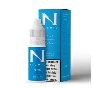 Nic Nic 10ml Nicotine Shot (EN) - 15mg/ml - 70% VG Bottle and Box