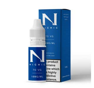 Nic Nic 10ml Nicotine Shot (EN) - 18mg/ml - 70% VG Bottle and Box