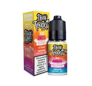 Doozy Tropix Rio 10ml Nicotine Salt E-Liquid Bottle and Box