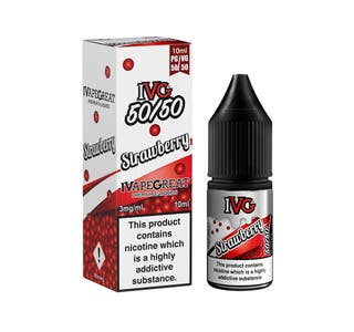IVG Strawberry 10ml 5050 Nicotine E-Liquid