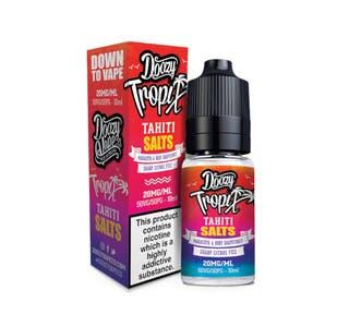Doozy Tropix Tahiti 10ml Nicotine Salt E-Liquid Bottle and Box