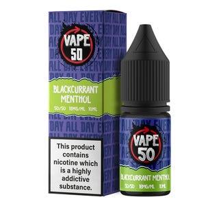 Vape:50 Blackcurrant Menthol 10ml E-Liquid