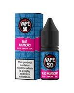 Vape:50 Blue Raspberry 10ml E-Liquid