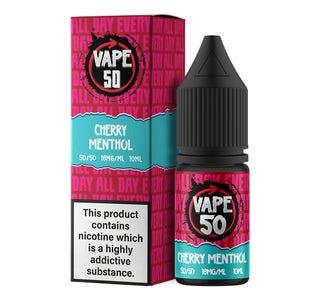 Vape:50 Cherry Menthol 10ml E-Liquid
