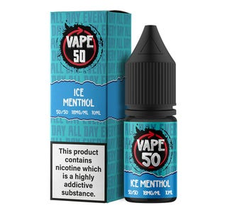 Vape:50 Ice Menthol 10ml E-Liquid