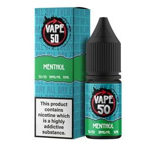 Vape:50 Menthol 10ml E-Liquid