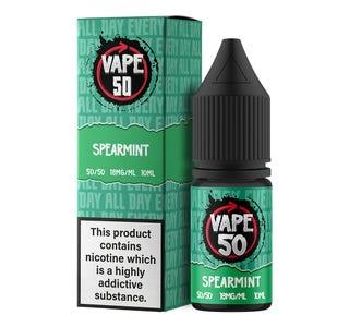 Vape:50 Spearmint 10ml E-Liquid