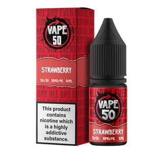 Vape:50 Strawberry 10ml E-Liquid