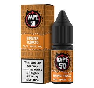 Vape:50 Virginia Tobacco 10ml E-Liquid