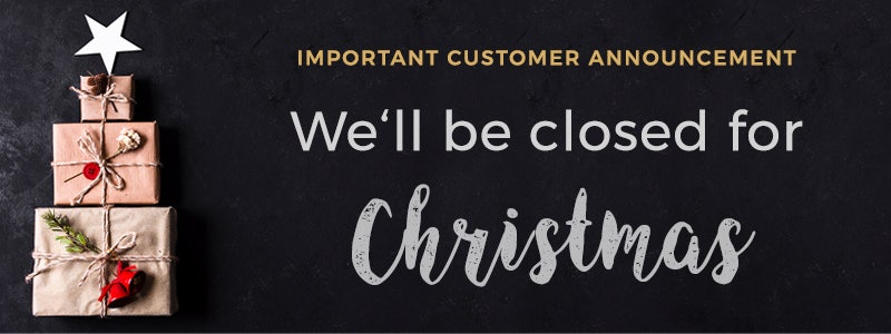 Closed for Christmas Banner