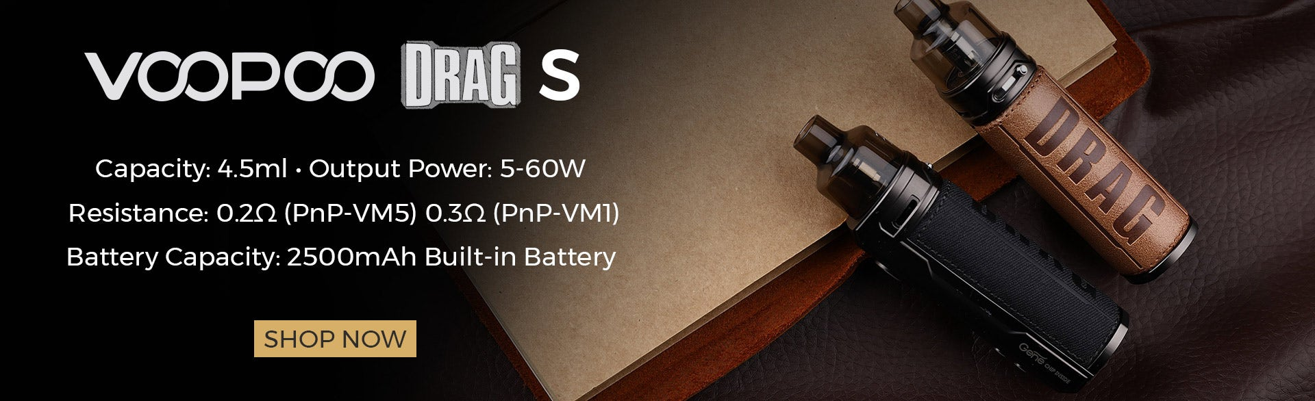The VooPoo Drag S mod pod kit is recommended for intermediate to advanced vapers